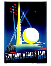 New York Vintage 1939  Fair World of Tomorrow 7 x 5 inch Adv Giclee CANV... - $9.95