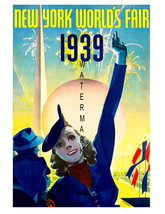 New York Vintage 1939 Worlds Fair 7 x 5 inch Ad... - $9.95