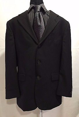 Tommy Hilfiger 3 Button 100% Wool Sports Coat Jacket Blazer Men's 40R W:33