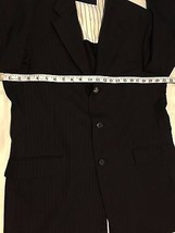 Tommy Hilfiger 3 Button 100% Wool Sports Coat Jacket Blazer Men's 40R W:33 image 4