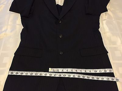 Tommy Hilfiger 3 Button 100% Wool Sports Coat Jacket Blazer Men's 40R W:33 image 3