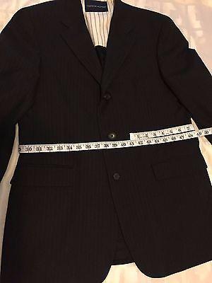 Tommy Hilfiger 3 Button 100% Wool Sports Coat Jacket Blazer Men's 40R W:33 image 8