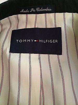 Tommy Hilfiger 3 Button 100% Wool Sports Coat Jacket Blazer Men's 40R W:33 image 10