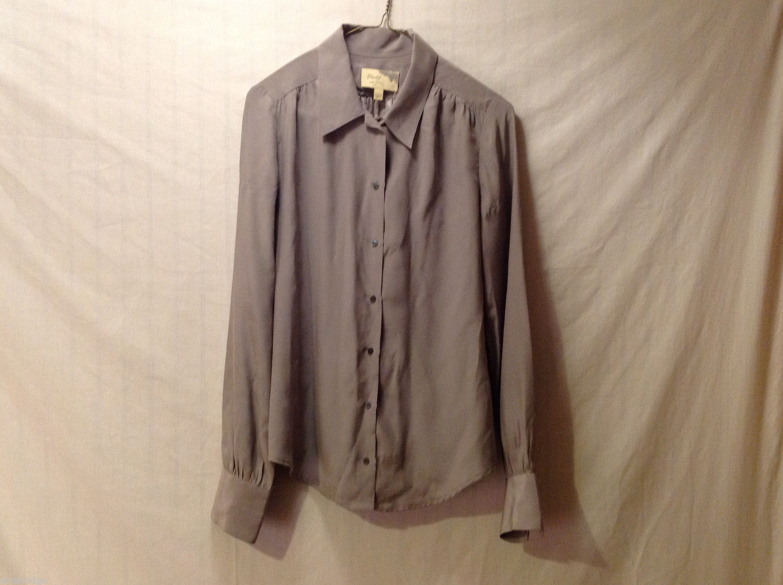 Elizabeth and James Women's Size S Button-Down Shirt Blouse Top Champagne Color