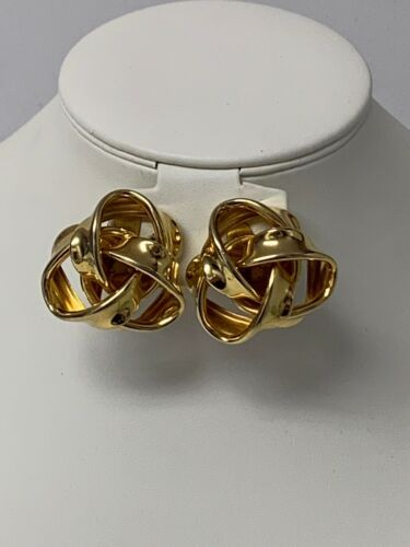 Primary image for Knot Style Clip On Earrings Gold in Color Unsigned