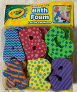 Crayola Bath Foam Letters & Numbers 26 Letters 10 Numbers Bold Colors Tu... - $14.84