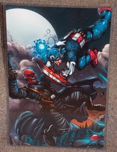 Marvel Captain America vs Red Skull Glossy Print 11 x 17 In Hard Plastic... - $24.99