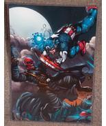 Marvel Captain America vs Red Skull Glossy Prin... - $24.99