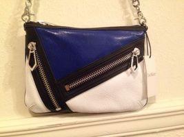 NWT Botkier Blue-White-Black Colorblock Cruz Leather CrossBody Chain Bag... - $1.529,65 MXN