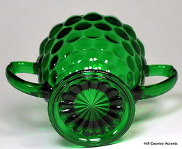 ANCHOR HOCKING - BUBBLE FOREST GREEN - SUGAR - ... - $9.49
