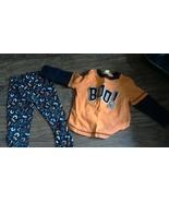 Boys 2 piece orange long sleeve shirt and bats print pant 2T and 3T - $3.00