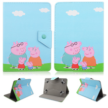 Peppa Pig Stand PU Leather Cover Case for 10.1