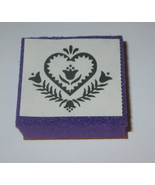 """Flower Heart Rubber Stamp Foam Mounted Country Hearts Bell Floral Love 1.5"""" - $2.90"""