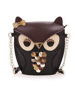 owl pu leather  print replica inspiration  bag - $158.00