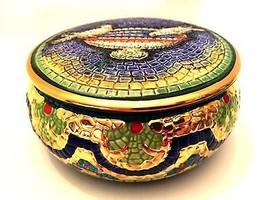 Vintage Italian Trinket Box Lavorato A Mano In ... - $44.54