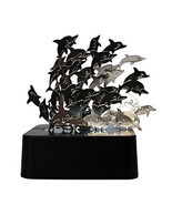 Creative Magnetic Dolphin Sculpture Memorial Collectible Office Desk Dec... - $12.21