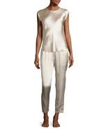 New Womens Designer Josie Natori Silk Top Only XS NWT Champagne Beige Sl... - $169.00