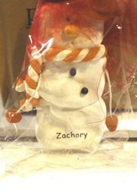 CHRISTMAS ORNAMENTS WHOLESALE- SNOWMAN- 13359- 'ZACHARY'-  (6) - NEW -W74 - $5.83