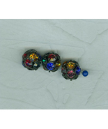 3 Glittery Sparkly Multi Color Pave Crystal Ball 14 Millimeter Beads Cze... - $7.50