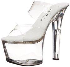 Ellie Shoes Women's 711 Coco Platform Sandal, Clear/Clear, 10 M US - $65.46