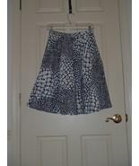 Size 4 ANTHROPOLOGIE Edme & Esyllte Black White Cotton Circle Full Skirt - $37.08