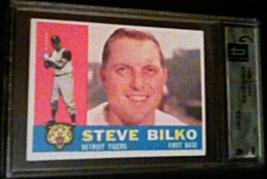 1960 TOPPS STEVE BILKO Global GAI Graded 6 EX-MT baseball card number 39... - $9.99