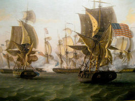 "War of 1812 Vintage ""Battle of Lake Erie"" 13 x 10 inch Giclee CANVAS Print - $19.95"