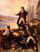 "War of 1812 Francis Scott Key ""Star Spangled Banner"" 13 x 10 Giclee CANV... - $19.95"