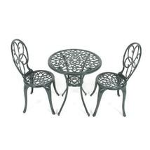 Vintage Garden Bistro Set Metal Conservatory Table Chair Antique Patio F... - €161,32 EUR