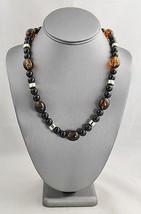 VINTAGE Jewelry PLASTIC TORTOISESHELL & BLACK B... - $10.00