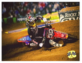 Dirt Track (type 2) Motorcycle Racing 13 x 10 i... - $19.95