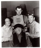 3 Stooges Award Moe Larry Shemp 177 Vintage 8X10 BW TV Memorabilia Photo - $4.99