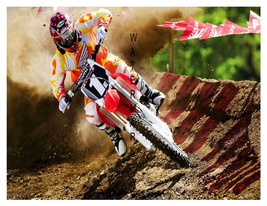 Dirt Track (type 3) Motorcycle Racing 13 x 10 inch Advert Giclee CANVAS ... - $19.95