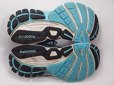 Saucony Omni 13 Women's Running Shoes Sz US 7 D WIDE EU 38 Silver Blue S10248-1