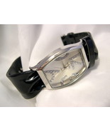 "L74, Kessaris, Large Face & Numbers, 8.5"" Black Band, Ladies Watch, w/b - $15.83"