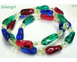 Red blue green yellow glass twist bead wrap bracelet thumb155 crop