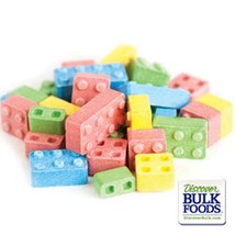 Candy Blox Blocks Assorted Flavors Vending Candy Candies Fresh 1 Pound - $5.89