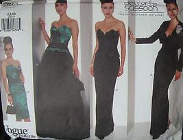 Vogue Pattern 1883 sz 6,8,10 Floor Length Skirts Boned Bustier Bellville Sasson - $19.99