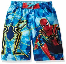 SPIDER-MAN INFINITY WAR UPF50+ Swim Trunks Bathing Suit Boys Size 4 5/6 ... - $14.99