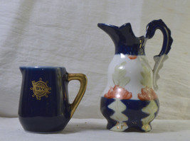 #1469 - 2 Miniature Dollhouse Pitcher Vase - 1 is Traunfelter China  - $10.00