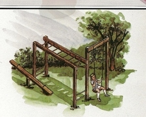 Playground Set Swing Teeter Totter Climber Jungle Gym Blueprints Handyman 504