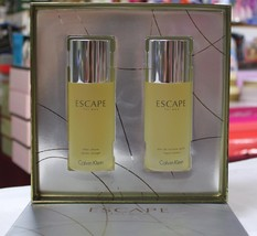 Escape By Calvin Klein 2 Pcs Set For Men  3.4 Fl.Oz / 100 Ml Edt Spray, Rare - $89.98
