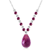 "11.5 CTW 14K Solid White gold fine You Intoxicate Me Amethyst Necklace 16"" - $210.20"