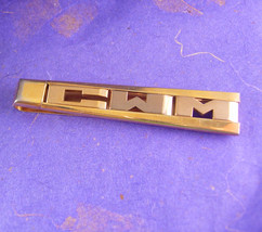 BIG and TALL Customized Tie Clip Vintage Gold Filled Initials CWM Swank ... - $70.00