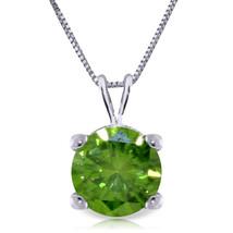 "0.5 CTW 14K Solid White gold fine Necklace 16"" genuine 0.50 CTW Green Diamond - $770.08"
