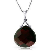 "8.5 CTW 14K Solid White gold fine Choreographed Garnet Necklace 20"" - $189.18"