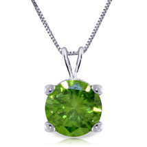 "0.5 CTW 14K Solid White gold fine Necklace 20"" genuine 0.50 CTW Green Diamond - $777.28"