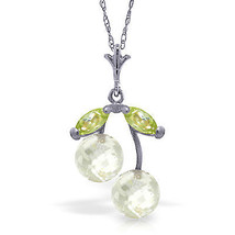 1.45 CTW 14K Solid White gold fine Growth Opportunities White Topaz Peridot - $104.96+