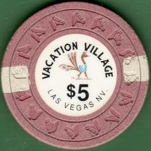 $5 Casino Chip, Vacation Village, Las Vegas, NV. 1990. K86. - $22.50