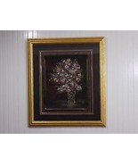 Beautiful Framed STEPHEN KAYE Signed Numbered Floral Textured Oil Painting - $138.60